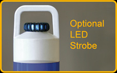 Add an optional LED Strobe to the 3S-K75 Self Re-Erecting Marker Post