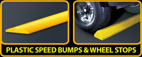 Plastic Speed Bumps & Wheel Stops