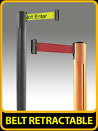 All-Weather Stanchions, Belt Retractable, 3S-5555