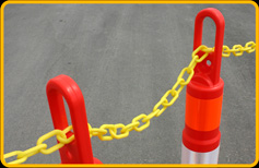 Yellow Chain, through Ring-Top Posts